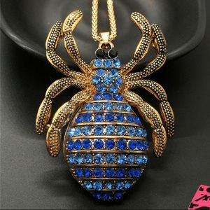 BETSEY JOHNSON~ XLarge SPIDER Necklace